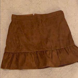 Suede J Crew Ruffle Skirt